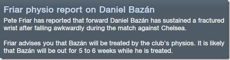 Injury of Bazan