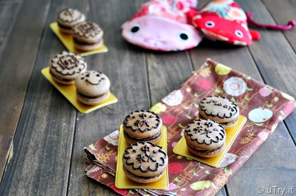 Happy Mid-Autumn Festival with Festive Macarons (中秋節快樂 + 中秋馬卡龍!)   http://uTry.it