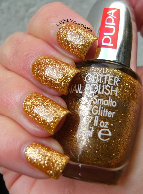 Smalto Pupa Glitter 820 Gold nail polish