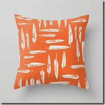 Orange Feathers Pillow Cover