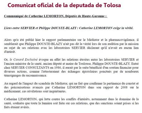 comunicat Lemorton Douste-Blazy