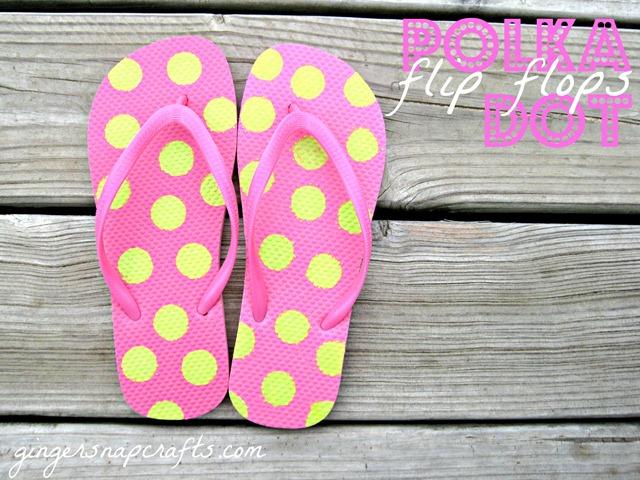 58ebc34a4c41bf Ginger Snap Crafts  my cutest craft FLOP ever  polka dot flip flops