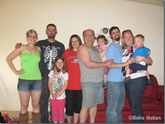 Me, DH, MGH, Nonnie, Papoo, Cindy, Uncle Nee,Autie H & Nephew