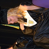 Kristin Miller adjusts her robe during the slideshow