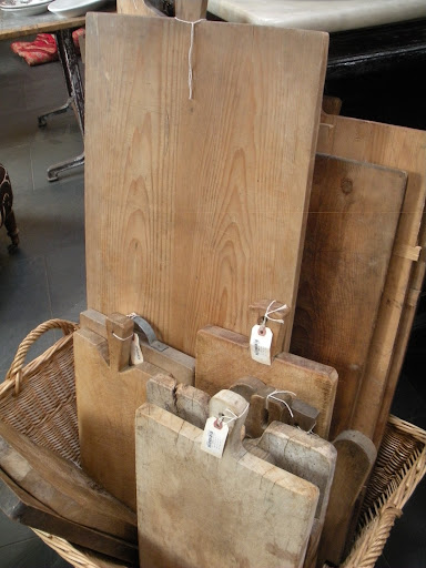 Antique cutting boards; I don't even cook, but Martha would love these.