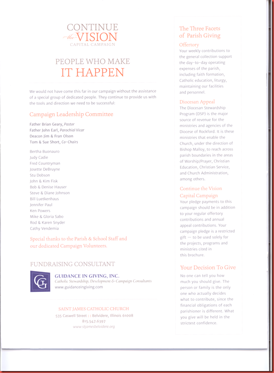 Continue the Vision  Capital  Campaign  page 12