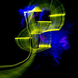 Glow Sticks and Long Exposure by Ben Jones - Abstract Light Painting ( abstract, glow sticks, light painting, long exposure, yellow )