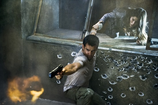 Colin Farrell and Jessica Biel star in Columbia Pictures' action thriller Total Recall