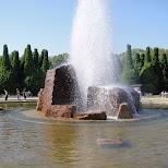 fountain near Osaka Castle in Osaka, Osaka, Japan