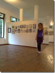Corina Chirila si cele 14 desene facute cu pixul expuse in Herastrau la salonul de grafica