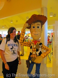 Woody LEGO sculpture