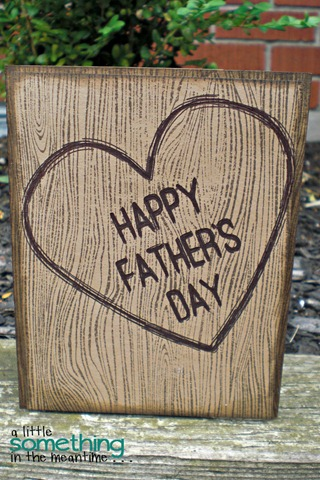 Woodgrain Father's Day Card