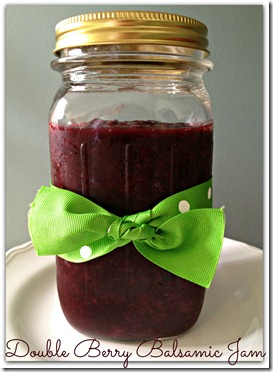 double berry balsamic jam