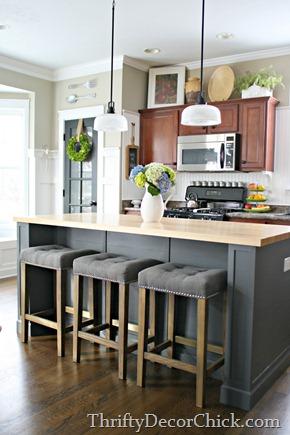 DIY extending kitchen island