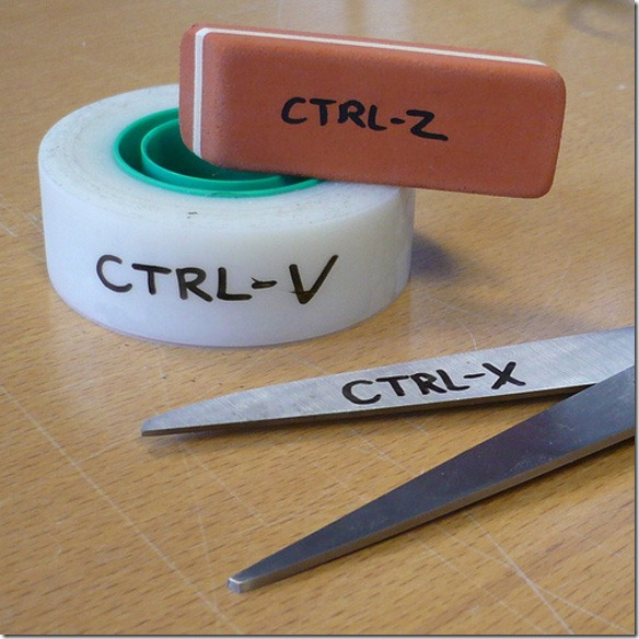 CtrlV-CtrlX-Ctrl-Z
