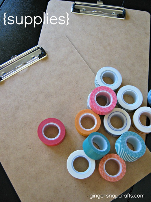 washi tape clipboards 1