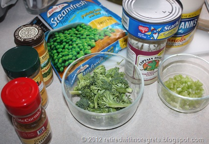 Tuna Salad for Breakfast - ingredients