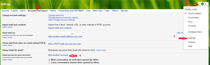 Gmail delegation