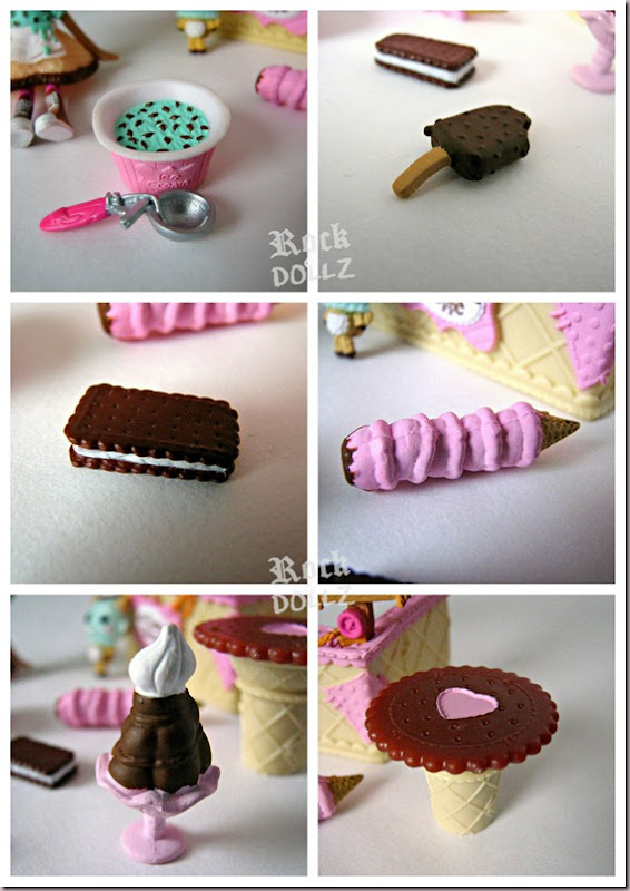 Mini Lalaloopsy Waffles Cone Scoops Serves Ice Cream Accesories