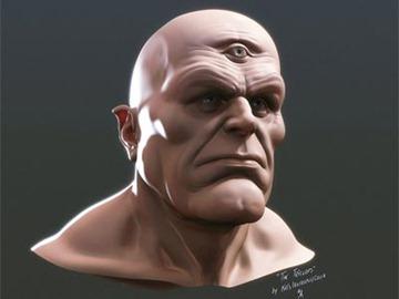 antropus triclops 3d model