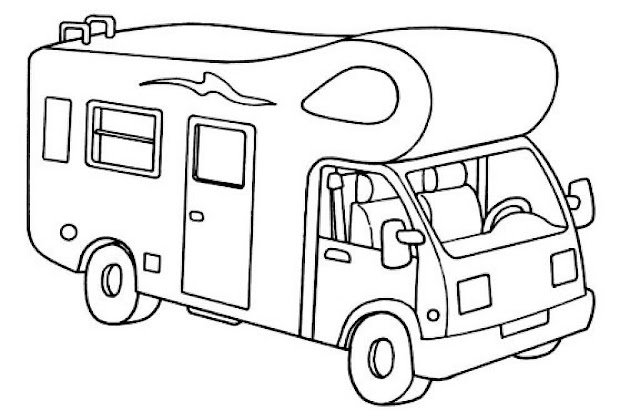motorhome coloring pages - photo#8