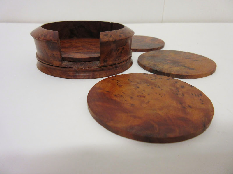 Burl Wood Coasters