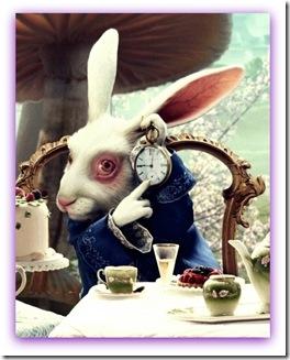 Imagem do coelhobranco de Alice das Maravilhas