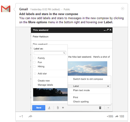 Gmail Compose Box Gets New Features