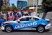 White hot Mazda debuts at F1 World