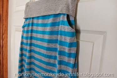 close up striped pockets