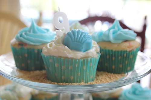 Under the Sea Party Sea Shell Cupcakes