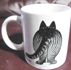 Kliban cat mug fat cat backside