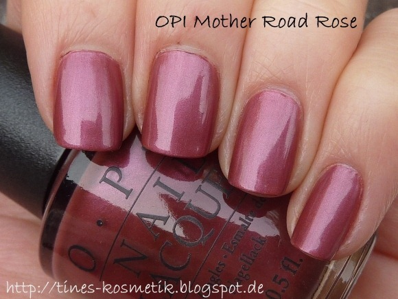 OPI Mother Road Rose 4