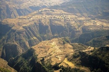 Muntii Simien - Etiopia: Peisaj in drumul catre Gich
