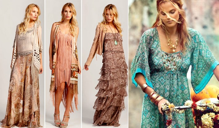 estilo moda hippie chic looks