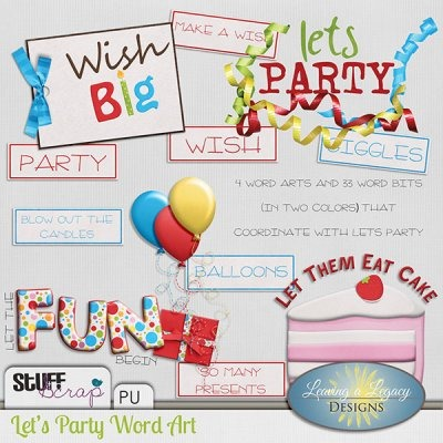 Let's Party - Word arts