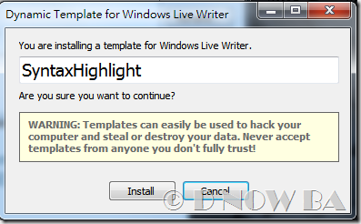 Dynamic Template Plugin for Windows Live Writer