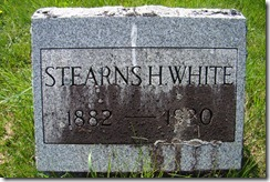 1882-1920 Stearns H White Hoosick NY Cemetery