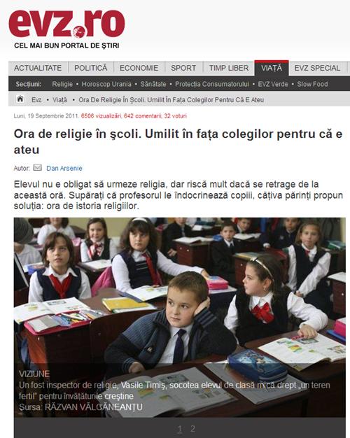 Ora de religie în şcoli_ Umilit în faţa colegilor pentru că e ateu - Religie } EVZ_ro_19_09_2011874