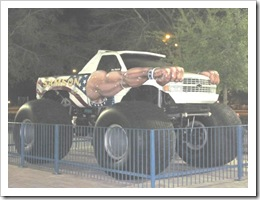 Florida vacation Old Town Sampson monster truck2