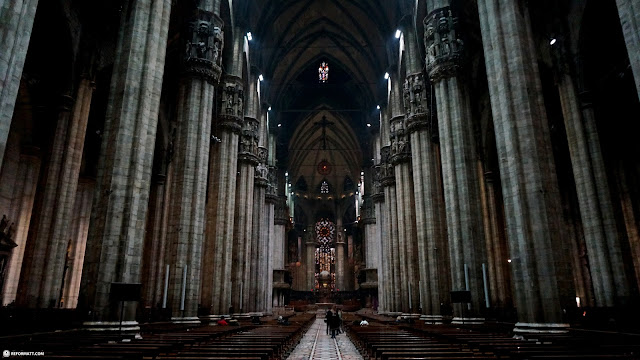 mesmerizing view inside the Duomo in Milan, Milano, Italy