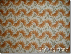 backing fabric