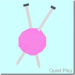 Paper Pieced Knitting Needles by Quiet Play