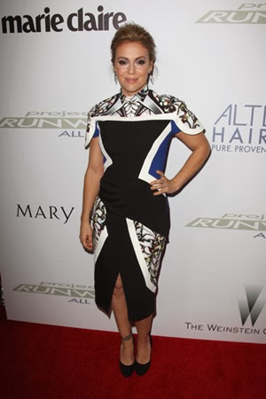 Alyssa Milano Celebrates the QVC Collaboration with Project Runway All Stars
