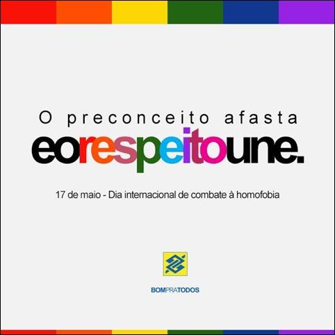 Banco do Brasil campanha homofobia