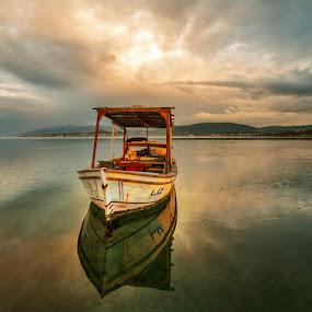 by Enver Karanfil - Transportation Boats ( urla, sigma, sunset, boats, adayolu, nikon )