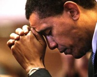 Obama praying