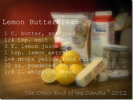 Lemon Buttercream Icing Recipe