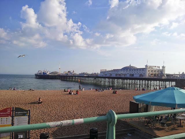 Brighton pier beach seaside