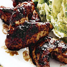 Sweet and Tangy Wings with Butter Lettuce Salad